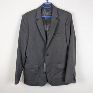 RW&Co Gray Blazer Suit Jacket sz 40 Regular